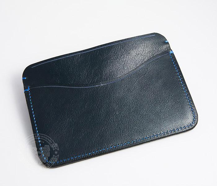 BC122-3 Обложка синего цвета для документов и карт ручной работы, «Boroda Design» фото 04