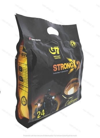 Вьетнамский растворимый кофе G7 Strong X2 (крепкий), 3 в 1, 24 пак.