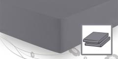Простыня трикотажная 90-110x200 Elegante 8000 серебряная