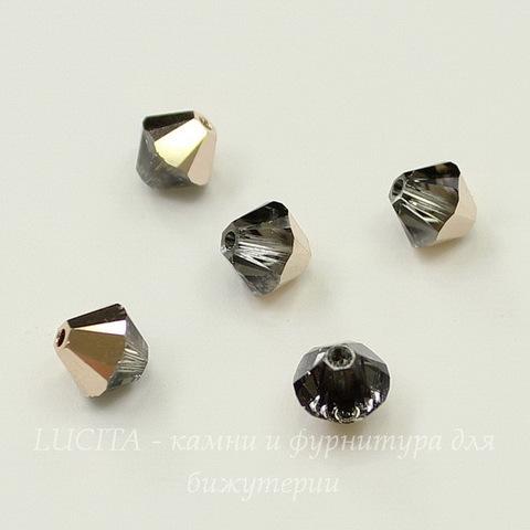 5328 Бусина - биконус Сваровски Crystal Rose Gold 6 мм, 5 штук