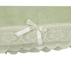 Полотенце 110х150 Old Florence Buratto зеленое