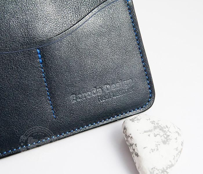 BC122-3 Обложка синего цвета для документов и карт ручной работы, «Boroda Design» фото 05
