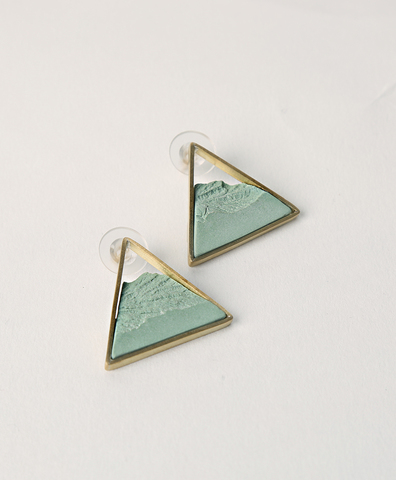 Серьги Triangle Dorada Green