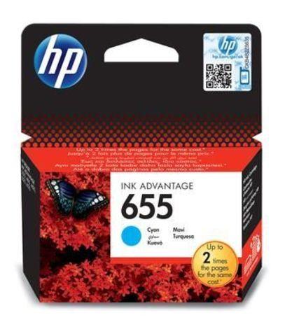 Картридж CZ110AE (№655) для HP Deskjet Ink Advantage 3525, 4615, 4625, 5525, 6525 (голубой, 600 стр.)