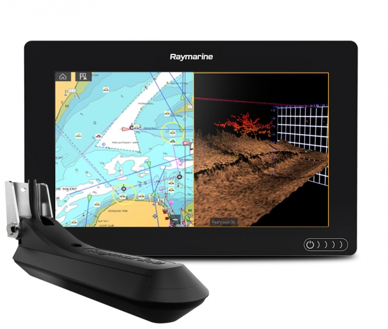Raymarine Axiom 9 with RV100 transducer