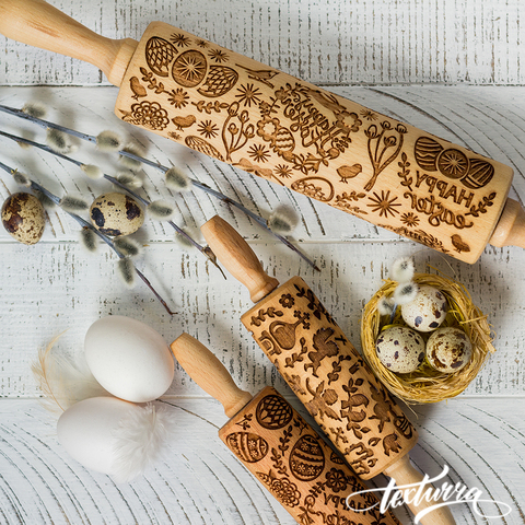 EASTER - Engraved rolling pin Texturra