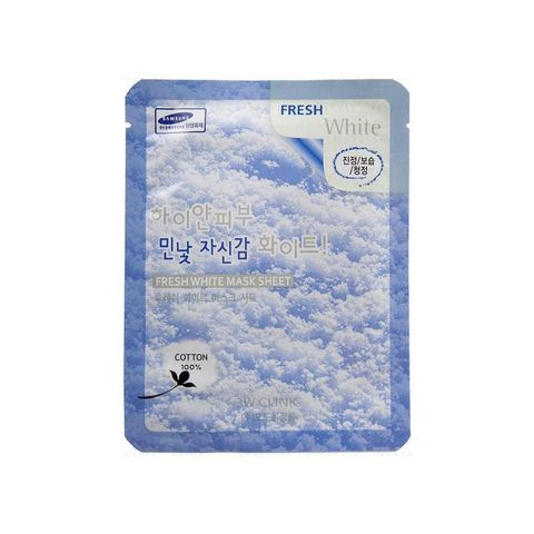 3W CLINIC Тканевая маска для лица с ниацинамидом Fresh White Mask Sheet (23мл)