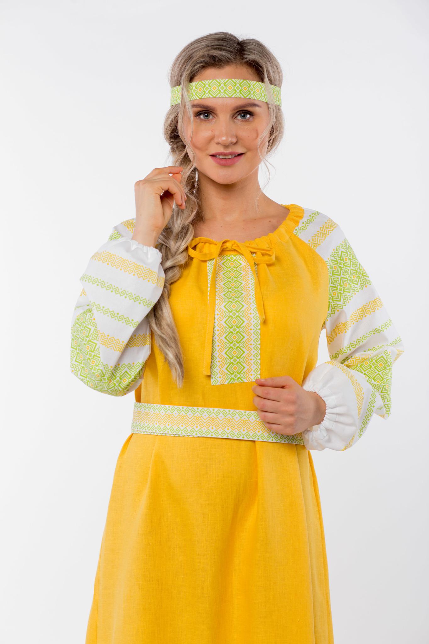 Платье льняное Ясно солнышко приближенный фрагмент