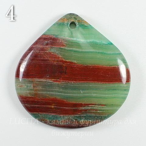 Подвеска Опал, цвет - коричнево-зеленый (№4 (39х38 мм))