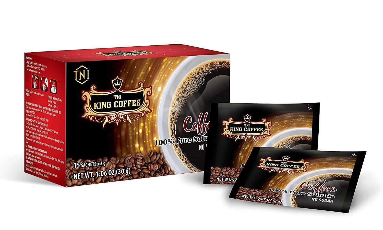 Вьетнамский растворимый кофе King Coffee Pure Black, 15 пак.