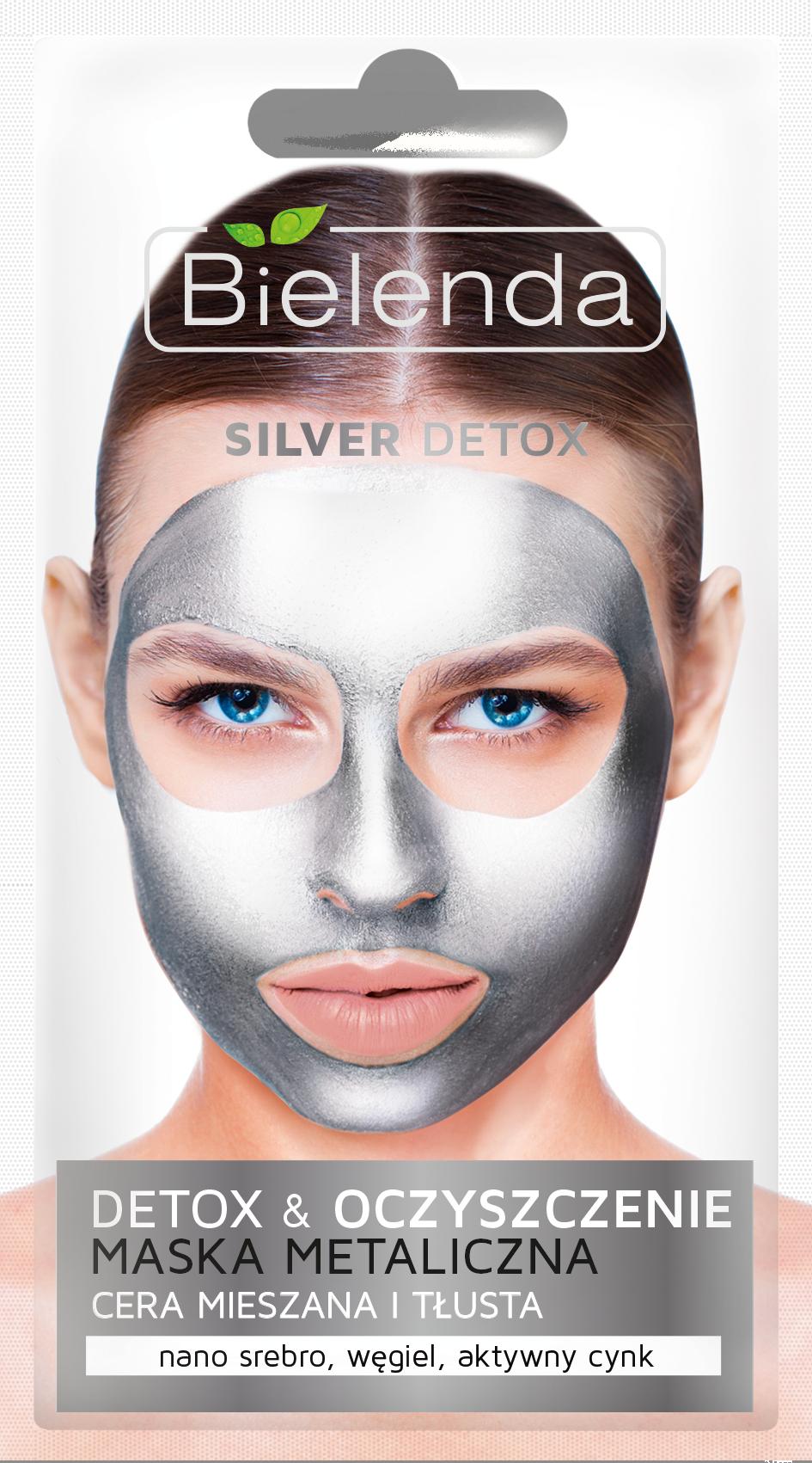 SILVER DETOX Маска с содержанием металлов для смешанной и жирной кожи, 8 г