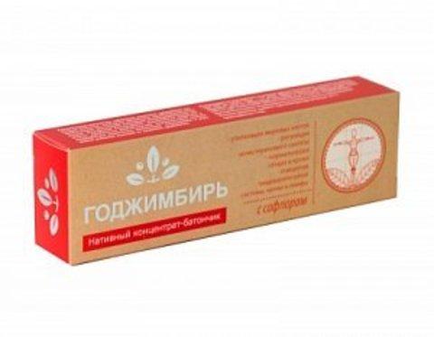 Нативный концентрат-батончик ГоджИмбирь с сафлором, Сашера-Мед, 45 г