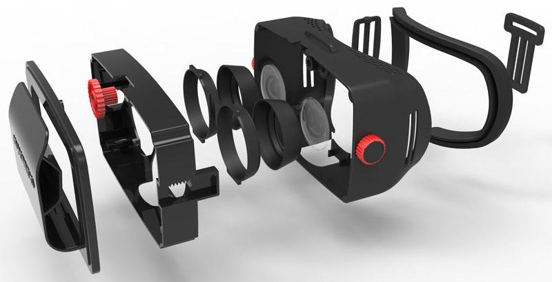 Конструкция гарнитуры виртуальной реальности Homido