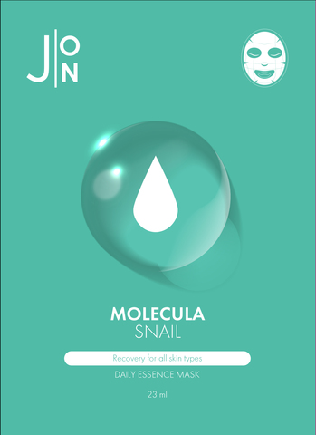 J:ON Тканевая маска для лица УЛИТОЧНЫЙ МУЦИН MOLECULA SNAIL DAILY ESSENCE MASK 23 мл