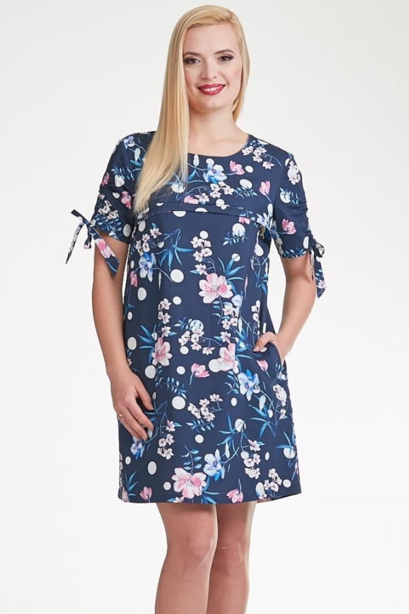 Платье для беременных и кормящих 10298 голубой