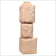 Наружный угол для фасайдинга FineBer Дачный камень крупный Бежевый