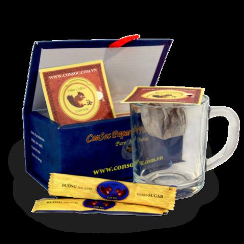 Молотый кофе Белочка Con Soc Blue, подарочная 160 гр.