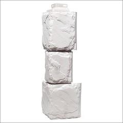 Наружный угол для фасайдинга FineBer Дачный камень крупный Белый