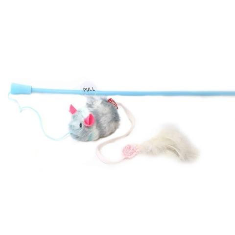 NEMS игрушка дразнилка для кошки (97956) голубая-мышь с чипом