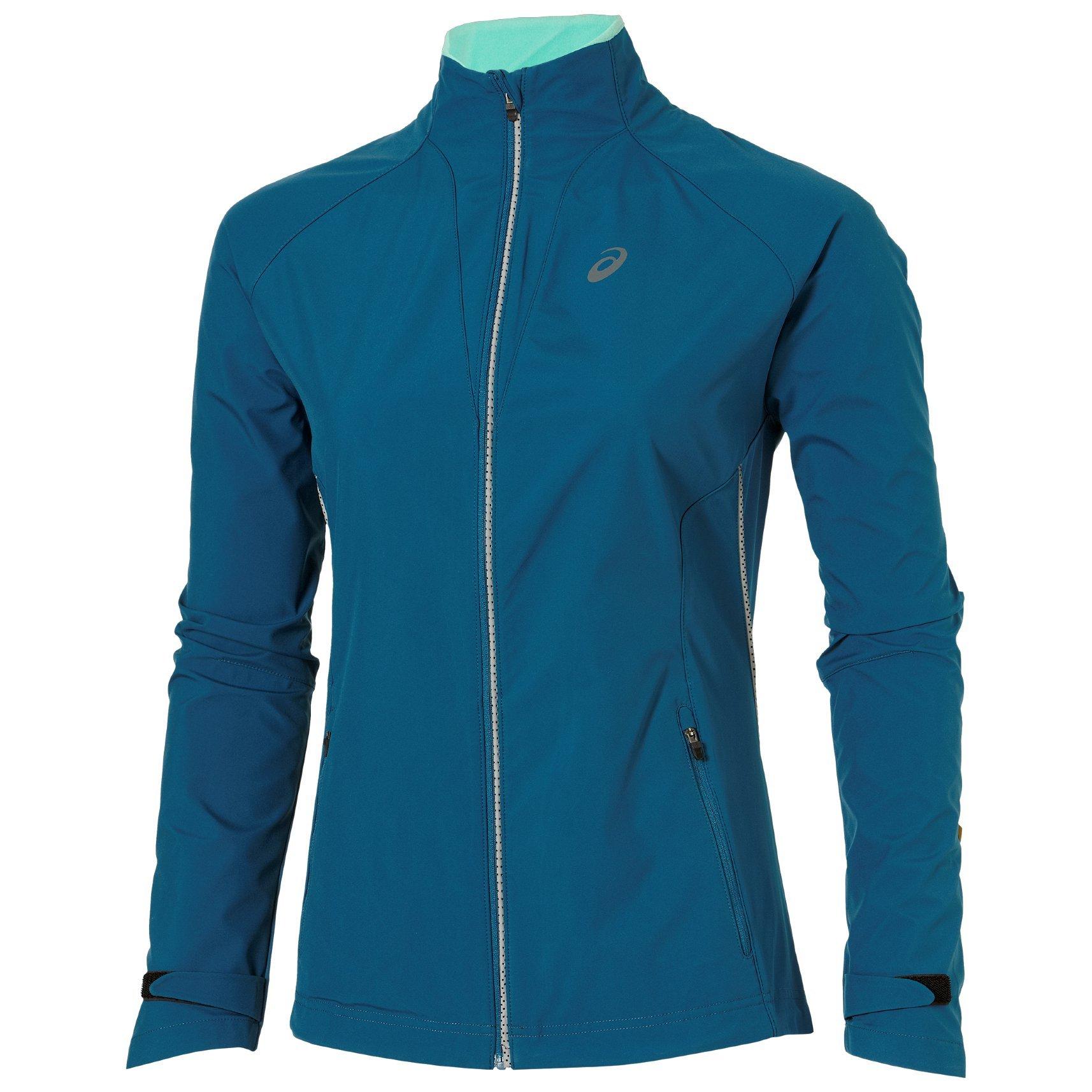 Женская куртка-ветровка Asics Windstopper (128137 8123) синяя