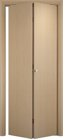 Дверь складная Верда ДПГ (2 полотна), цвет беленый дуб, глухая