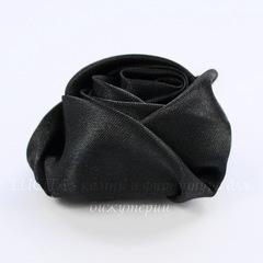 Роза атласная черная 50 мм
