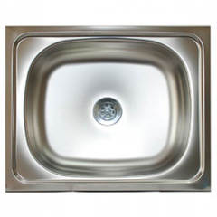 Мойка КромРус S-404 для кухни из нержавеющей стали, универсальная