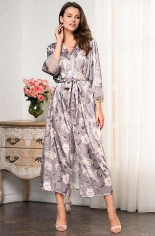 Шелковый халат на пуговицах  Mia-Amore  GRACIA ГРАЦИЯ 3589