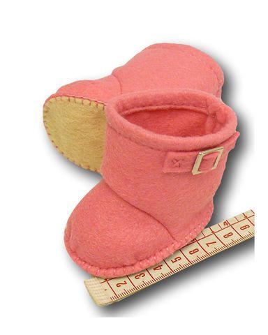 Сапожки-угги из фетра - Демонстрационный образец. Одежда для кукол, пупсов и мягких игрушек.