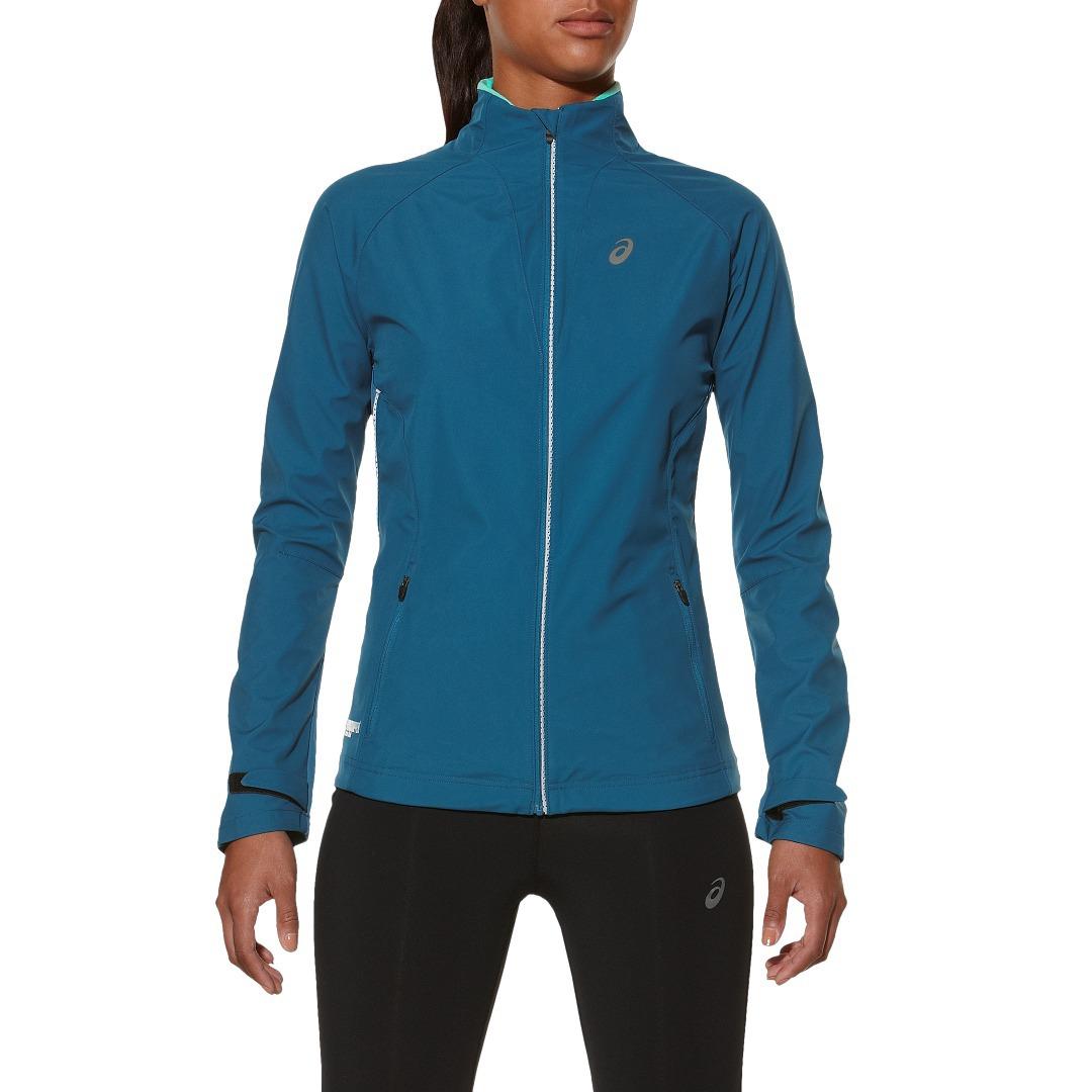 Женская куртка-ветровка Asics Windstopper (128137 8123) синяя фото