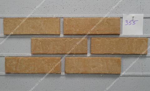Stroeher, фасадная клинкерная плитка, цвет 355 sandschmelz, серия Zeitlos, состаренная поверхность, ручная формовка, 400x71x14
