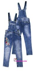 569 комбинезон джинсовый вышивка
