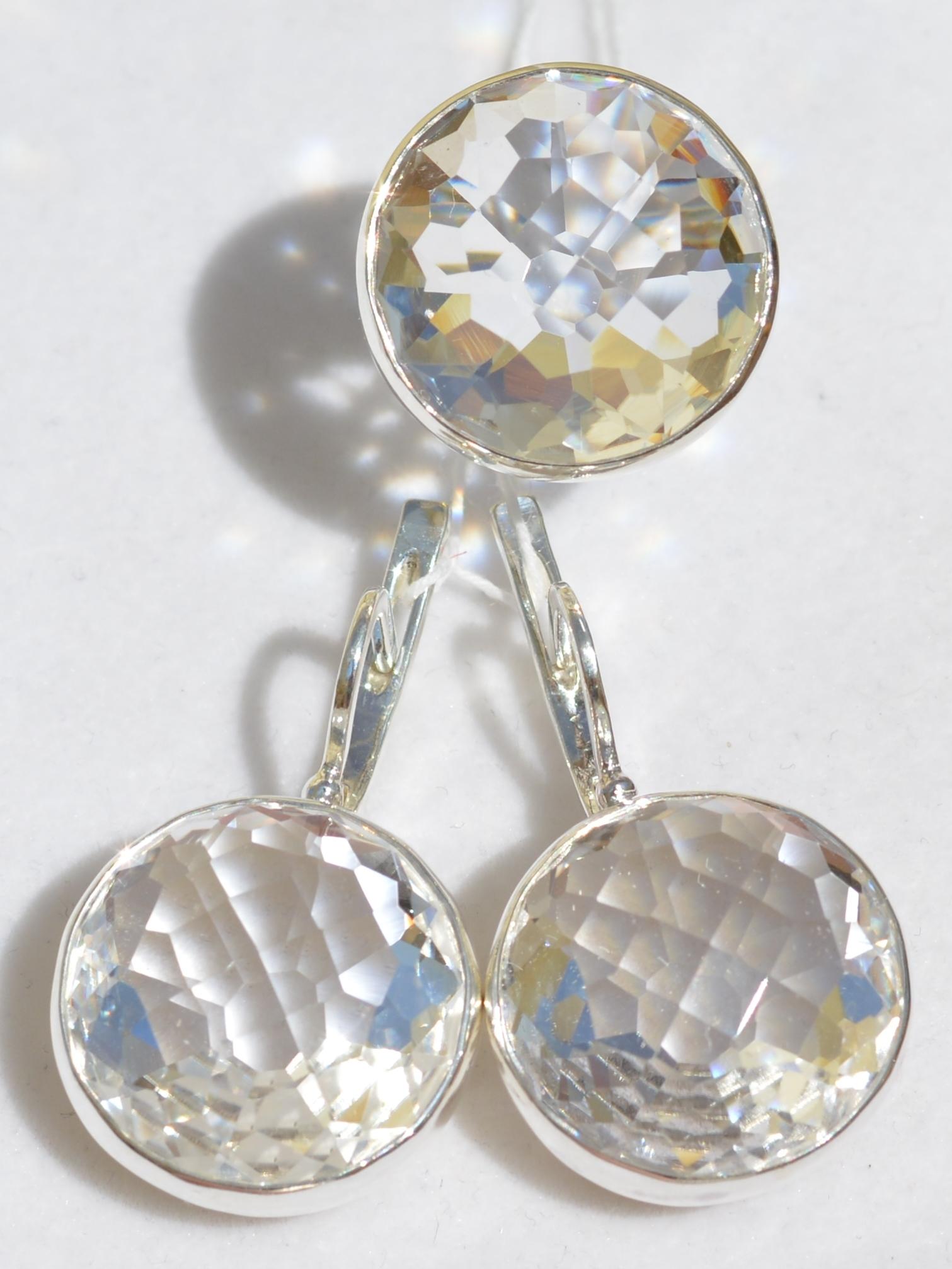 Илона (кольцо + серьги из серебра)