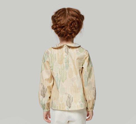 Блузка бежевая