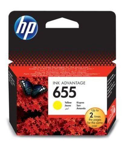 Картридж CZ112AE (№655) для HP Deskjet Ink Advantage 3525, 4615, 4625, 5525, 6525 (желтый, 600 стр.)