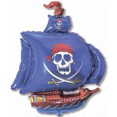 F Мини фигура Пиратский корабль (синий) / Pirate Ship (14