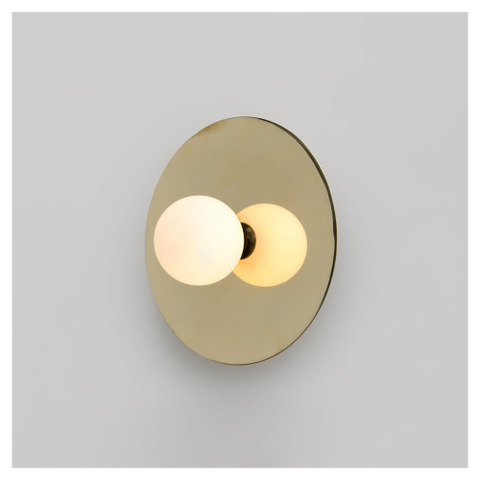 Disc and Sphere Wall Light by Atelier Aretti  -