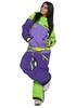 Женский утепленный сноубордический комбинезон Cool Zone Mix 3514/30 салат-фиолетовый фото