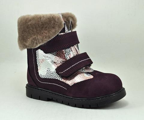 Зимние ботинки Panda 1681-LILA