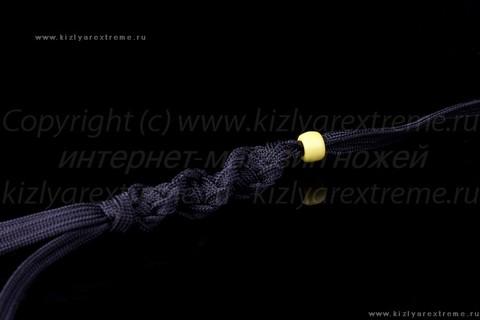 Фиолетовый спиральный темляк