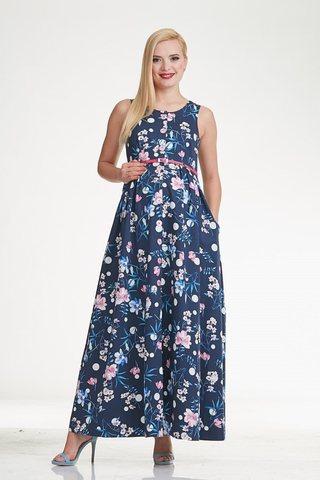 Платье 10299 голубой