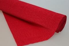 Бумага гофрированная простая светло-вишневая (582), 50 см./250 см.