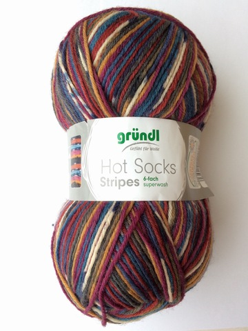 Gruendl Hot Socks Stripes 6-fach 619