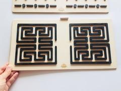 Трафареты графомоторные Лабиринт, для одновременного рисования двумя руками, Сенсорика