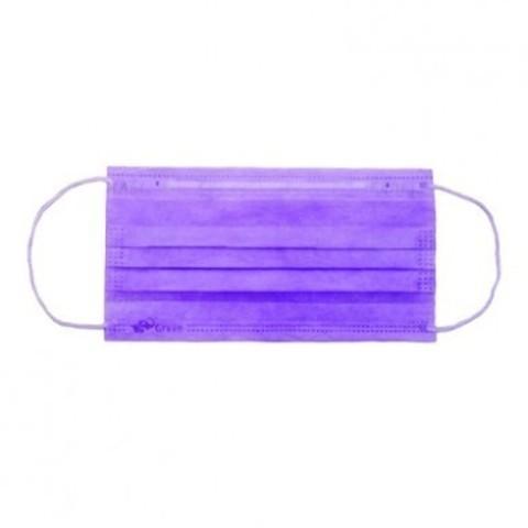 Маска медицинская 3-х слойная Фиолетовая 50 шт