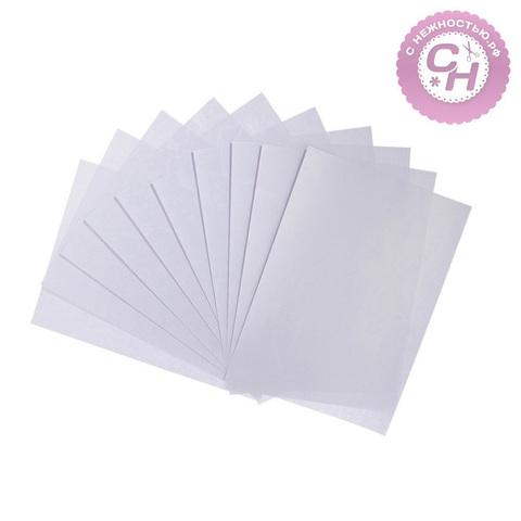 Эмбоссированная бумага перламутровая, 80 г/м,  А4, 1 лист. Сердца.