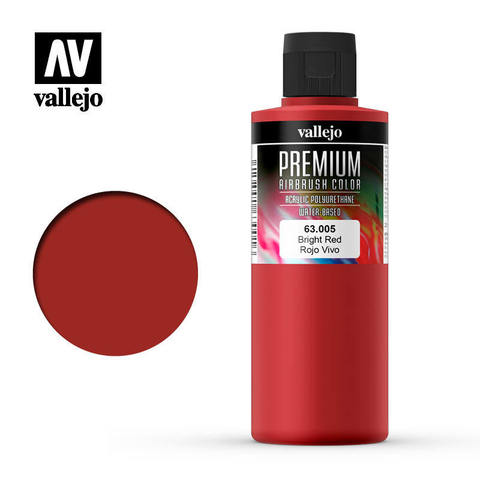 Premium Airbrush Bright Red 200 ml.