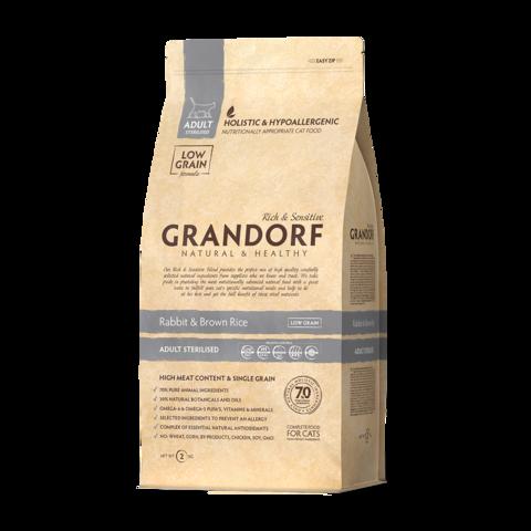 Grandorf Rabbit & Rice Adult Sterilised Сухой корм для стерилизованных кошек Кролик с рисом низкозерновой