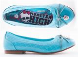 Балетки Монстер Хай (Monster High) лакированные для девочек, цвет голубой. Изображение 3 из 8.
