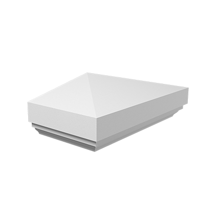 Полукрышка (пирамида) Европласт из полиуретана 4.76.211, интернет магазин Волео